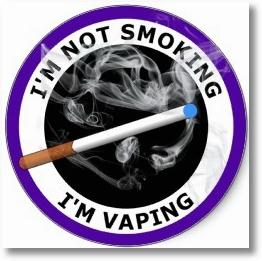 Not smoking but vaping